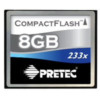 PRETEC Cheetah CompactFlash Card 8GB 233x (PCCF8GB)