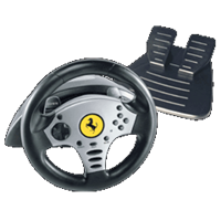 Thrustmaster Challenge Racing Wheel, Lenkrad PS2
